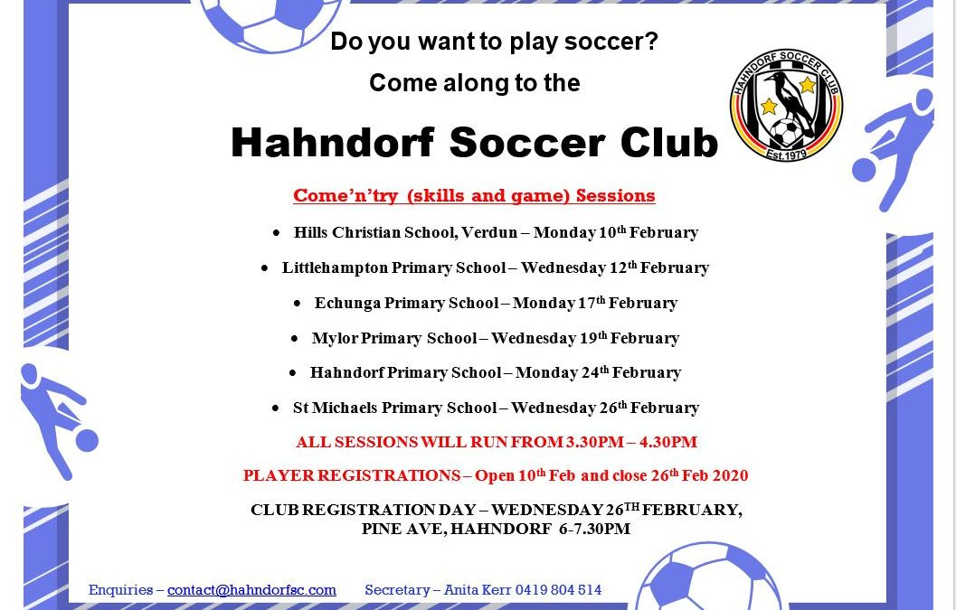 Juniors Come 'N' Try Sessions