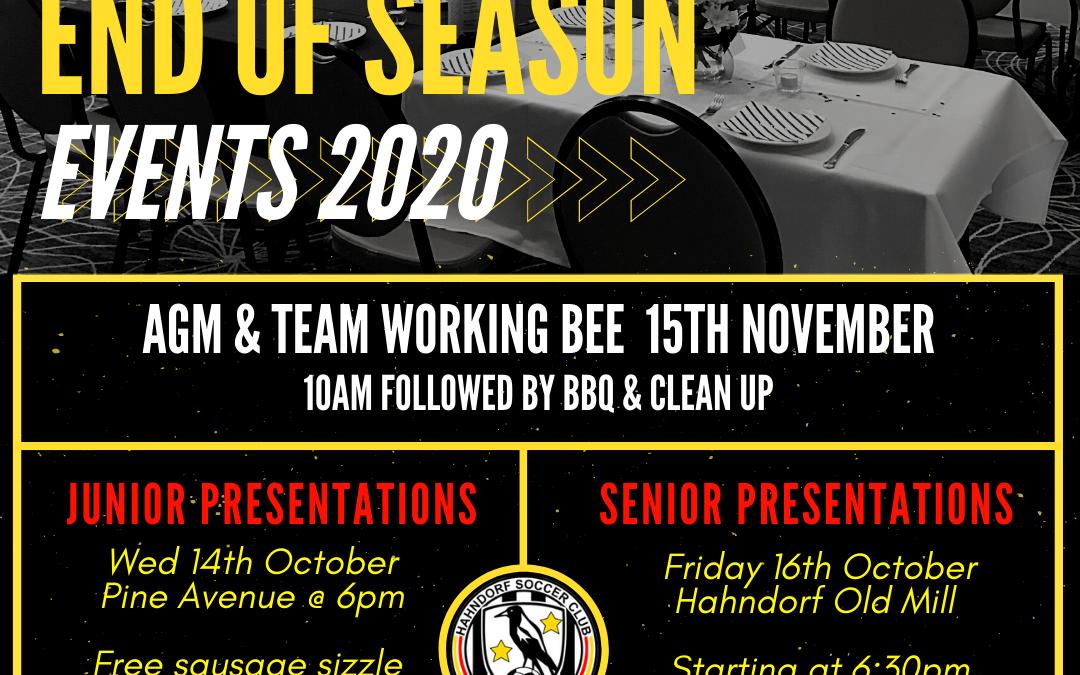 End of Season Events